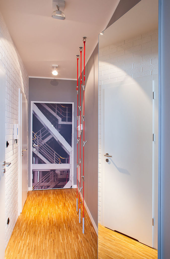 korytarz z lustrem