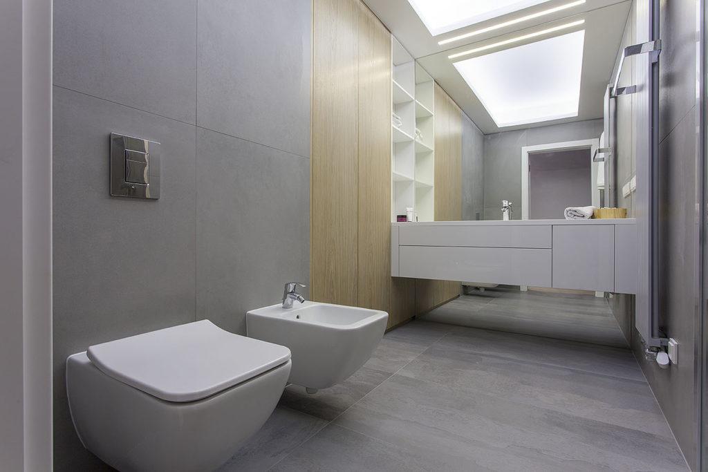 łazienka urządzona minimalistczne